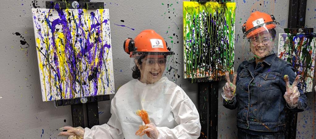 splatter paint las vegas